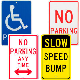 High Visibility Parking Lot Traffic Signs