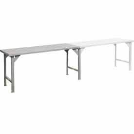 Little Giant® Continuous Width 12 Gauge Steel Top Production Tables