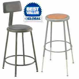Interion® Steel Shop Stools