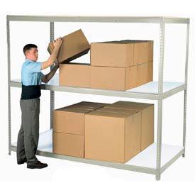 7'H Boltless Wide Span Metal Storage Rack With Laminate Deck