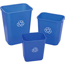 Global Industrial™ Plastic Recycling Wastebaskets