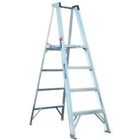 Werner® Aluminum Platform Step Ladders
