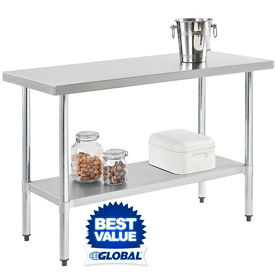 18 Gauge Stainless Steel Workbenches - Flat Top