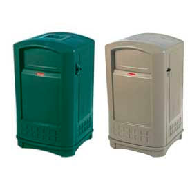 Rubbermaid Plaza® Outdoor 50 Gallon Waste Receptacle