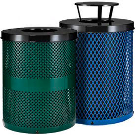 Global Industrial™ Thermoplastic Coated Trash Receptacles