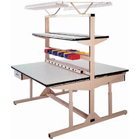 Single or Dual-Sided Adjustable Top Workbenches with Uprights