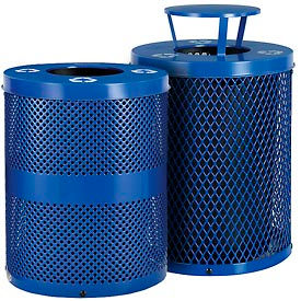 Global Industrial™ Steel Thermoplastic Coated Recycling Receptacles
