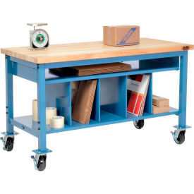 Pre-Configured Mobile Packaging Workbench with Lower Shelf Kit