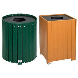 99a2f2b6daad Outdoor Plastic Trash Containers at Global Industrial