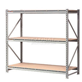 Global - Made in USA - Extra High Capacity Metal Bulk Storage Rack With Wood Decks