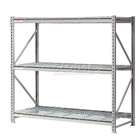 Global - Made in USA - Extra High Capacity Metal Bulk Storage Rack With Wire Decks