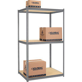 7'H Expandable Bulk Metal Storage Rack With Wood Deck - Made in USA