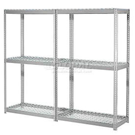 7'H Expandable Bulk Metal Storage Rack With Wire Deck - Made in USA