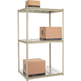 Made in USA - 7'H High Capacity (Z-Beam) Boltless Metal Rack With Steel Deck