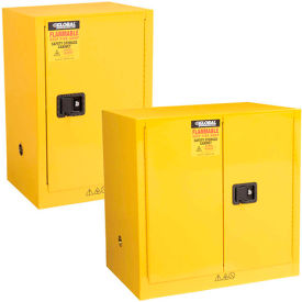 Global™ Compact And Bench High Flammable Cabinets