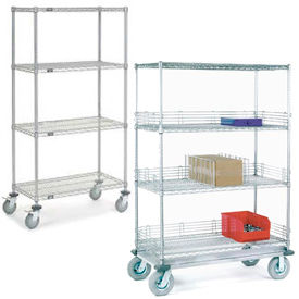 Nexel® NSF Adjustable Chrome Wire Shelf Trucks