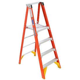 Werner® Fiberglass Platform Step Ladders