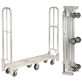 Folding Aluminum Narrow Aisle High End Platform Trucks