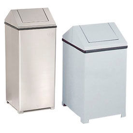 Rubbermaid® Steel Square Waste Receptacle