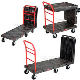 Rubbermaid® Convertible Plastic Platform Trucks