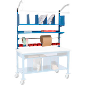 Packing Upright Kit with Shelf, Divider, Bin Rail and Roll Bar