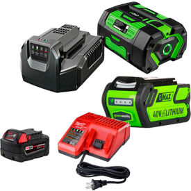 Cordless Lawn Mower Batteries & Chargers