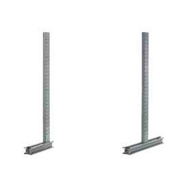Global Approved (1000 Series) Uprights - Single & Double Sided - 16200 Lb Max. Capacity