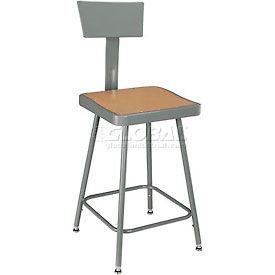 Interion® Square Seat Shop Stools