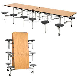 Virco® - Folding Portable Cafeteria Tables with Stool Seating