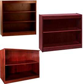 Wood Veneer - Desk Height, Easy Assembly Bookcases