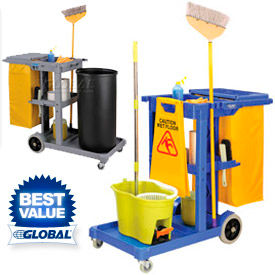 Global™ Janitorial Carts