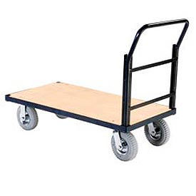 Global Industrial™ Steel Bound Plywood Deck Platform Trucks
