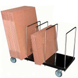 Steel & Chrome Portable Carton Storage Trucks