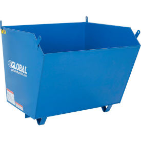 Global Industrial™ Low-Profile Self-Dumping Steel Forklift Hoppers