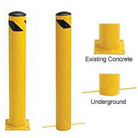Steel Bollard With Removable Cap and Chain Slots