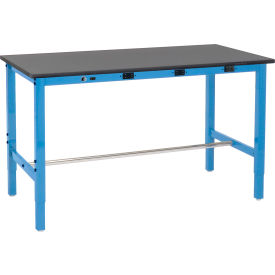 Heavy Duty Lab Workbenches Adjustable Height with Power Apron