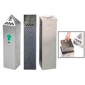 Outdoor Tower Bin Ashtrays