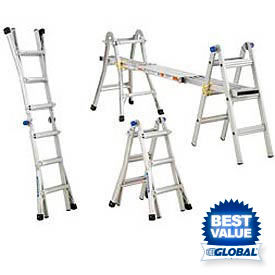 Werner® Telescoping Extension Multiladder - Telescoping Ladder - Folding Ladder