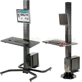 Orbit Stationary Computer Workstations - Choice of Floor Mounts or Freestanding