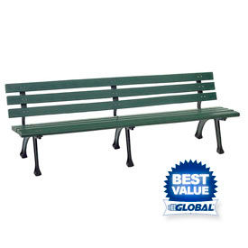 Plastic/Recycled Plastic Benches with Back