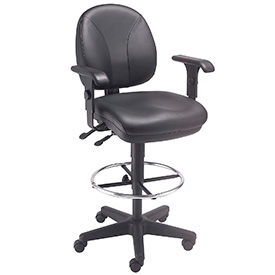 Interion® Leather Stools - Task Synchro Mechanism