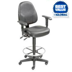 Interion® Leather Stools