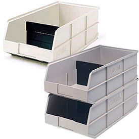 Akro-Mils®  Beige Stackable Shelf Bins - 20-1/2