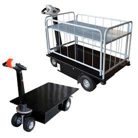 Vestil Self-Propelled Battery Powered Platform Trucks