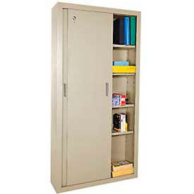 Full Height Sliding Door Storage Cabinets