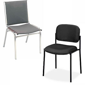 Interion® Upholstered Stackable Chairs