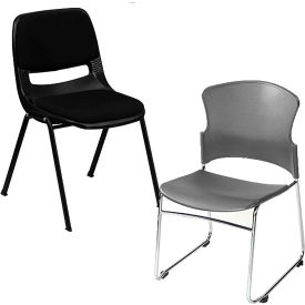 Interion® Plastic Stackable Chair