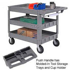 Deluxe Plastic Tray Shelf Service & Utility Carts