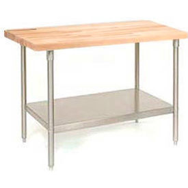Maple Top Stainless Steel Workbenches