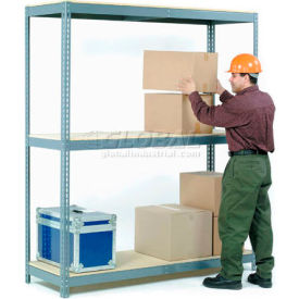 5'H Boltless Wide Span Metal Storage Rack With Wood Deck